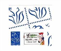 Lamouche 0.60 € Bleu Personnalisé Autoadhésif Grand Logo YT 3966A . Rare , Voir Le Scan . Cote Maury N° 64 : 16 € . - Personalized Stamps