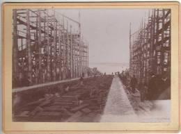 """LANCEMENT A SAINT NAZAIRE DU BATEAU """" La Lorraine""""(1899) De La Compagnie Générale Transatlantique - Barcos"""