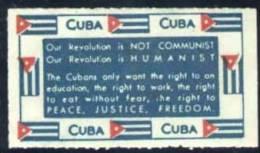 CUBA.- VIÑETA CON EL DISCURSO DE FIDEL CASTRO AL GANAR LA REVOLUCION - Cuba