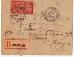 Enveloppe De CALLAC à BREST Puis à PERPIGNAN - Sonstige