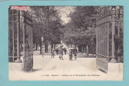 GENEVE  -  Entrée  De  La  Promenade  Des  Bastions  -  1909  -  BELLE CARTE ANIMEE  - - GE Genève