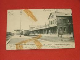ERQUELINNES  - Intérieur De La Gare  - 1904  -  (restaurée ) - 2 Scans - Erquelinnes