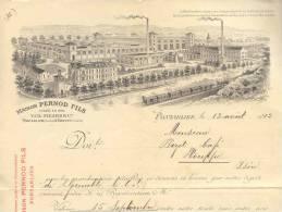 2239  - DOUBS  PONTARLIER 1912 -  MAISON PERNOD FILS SUPERBE VUE AVEC TRAIN - Altri