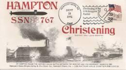 ETATS UNIS 1991 Bataille Navale Christening Of The USS Hampton Station SSN 767 - 28-09-1991 29CTS - Geschichte