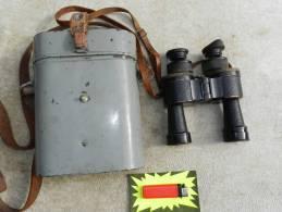 JUMELLES MARINE  HUET Dm-1V 8 X 30 Modéle 1933 + étui Laiton !!!!!!!!! - Optique