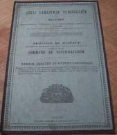 Atlas Cadastral Parcellaire Plan Popp Commune De Saint Sauveur  Arr Tournai Canton Frasnes - Old Paper