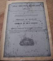 Atlas Cadastral Parcellaire Plan Popp Commune De Nil Saint Vincent  Arr Nivelles Canton Perwez - Old Paper