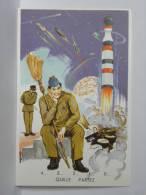 CP Illustrateur Louis Carrière - 111 - QUILLE PARTEZ - 4... 3... 2... 1... 0... (militaire) - Carrière, Louis