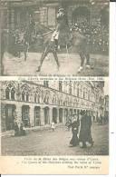 B309 / Doppelbildkare Koenig Albert Zu Pferde Und Die Koenigin Zu Besuch In Ypres - Autres