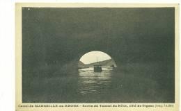 13/MARSEILLE, Canal De Marseille Au Rhône, Sortie Du Tunnel Du Rôve, Côté De Gignac - L'Estaque