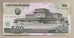 Corea Del Nord - Banconota Non Circolata Da 500 Won - 2007 - Corea Del Nord