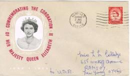 Carta UCKFIELD ( Sussex) Gran Bretaña 1953 A Estados Unidos - Covers & Documents