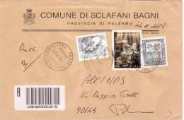 SICILIA _ COMUNE DI SCLAFANI BAGNI  (PA) - TEMATICA COMUNI - ARALDICA _ Commemorativi - Affrancature Meccaniche Rosse (EMA)