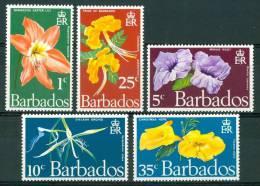 1970 Barbados Flora Fiori Flowers Blumen Fleurs Set MNH** Fio97 - Barbados (1966-...)