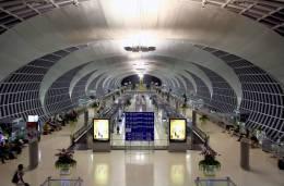 Bangkok Suvarnabhumi Int´l Airport Thailand Aviation Postcard - Aerodromi