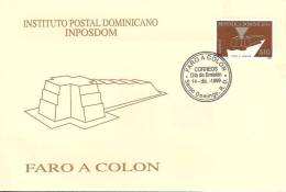 Dominica Stamp On FDC - Cristoforo Colombo