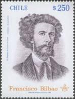 Bilbao, Apostle Of Freedom, Writer, Mason, Politician, Masonic Lodge, Freemasonry, MNH Chile - Franc-Maçonnerie