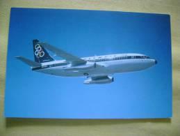 AVION BOEING 737-200 - OLYMPIC AIRWAYS - CARTE FORMAT CPA - BON ETAT - Avions