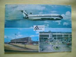 AVION BOEING 727  -MULTIVUES - CARTE FORMAT CPSM ECRITE EN 1976 - BON ETAT - Avions