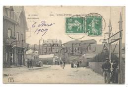 Veulettes (76) : Le Boulevard Des Bains Pris Au Niveau De L'entrée Du Casino Vue Sur Le Grand Hôtel  En 1909 (animée) . - France