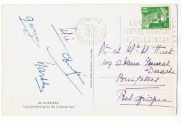 YT 884 - 6 F Gandon Sur CP, Tarif Imprimés Pour étranger, Oblitéré 20-5-1952 Pour Belgique - France