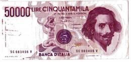 BILLET ITALIE - P.113a - 50000 LIRES - 06/02/1984 - VOIR SIGNATURES - GIAN LORENZO BERNINI - [ 2] 1946-… : République