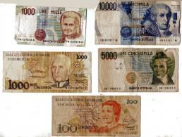 BILLET - LOT DE 5 BILLETS - ITALIE - BRESIL - - Bankbiljetten
