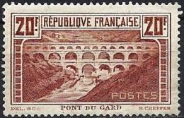 "FR YT 262A Type I "" Pont Du Gard 20F. Chaudron "" 1929 Neuf* - France"