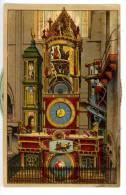 Strasbourg - Horloge Astronomique Cathédrale - Carte à Système - Gravure - Strasbourg