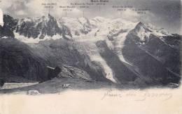Cp , 74 ,  MONT-BLANC , Aig. Du Midi , Mont-Maudit , Mt-Blanc Du Tacul , Dôme Du Goûter , Aig. Du Goûter - Chamonix-Mont-Blanc