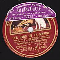 "78 Tours - DISQUE ""GRAMOPHONE"" K-6375 - COMEDIAN HARMONISTS - LES GARS DE LA MARINE - QUAND LA BRISE VAGABONDE - 78 Rpm - Schellackplatten"