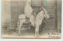 LE CAIRE  -   Riche Arabe Et Son âne. - Anes