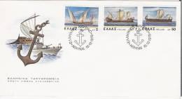 Army/Armoiries/Ship/Batea   U  - Greece Envelope Stamp FDC - Enveloppes