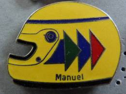 PIN´S CASQUE FORMULE 1 PILOTE USA MANUEL EGF MFS - F1