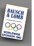 Pin´s - B506 - BAUSCH ET LOMB  Partenaire JO Albertville 1992 - Olympic Games
