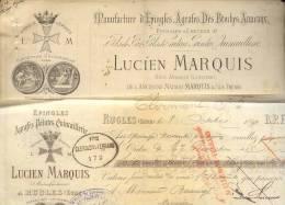 2313 -  CREUSE RUGLES 1891 - MANUFACTURE EPINGLE BROCHE ...+TRAITE - Altri