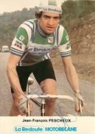 Jean François PESCHEUX, Autographe Manuscrit, Dédicace. 2 Scans. La Redoute Motobécane - Cyclisme