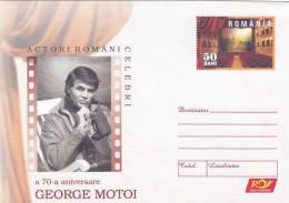 GEORGE MOTOI,ACTOR OF MOVIE AND CINEMA,2006, COVER STATIONERY,ENTIER POSTAL,UNUSED,ROMANIA - Cinéma