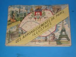 Carnet 20 Cartes Postales Les Arrondissements De PARIS Illustres Blondel La Rougery - Non Classés