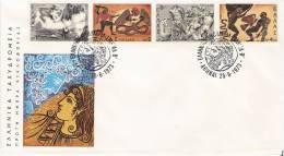 Mythology/Mythologie/Zeus/Serpent/Snake   - Greece Envelope Stamp FDC - Mitologia