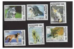 Cambodia / Kampuchea 2001 Sg 2185-90 Wolves MNh Cv £5.70 - Timbres
