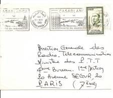 Lettre   Maroc  1961  (907) - Morocco (1956-...)