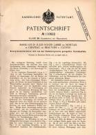Original Patentschrift - M. Labbé De Montais In Chateau De Beauvoir B. Cloyes , 1898 , Acetylenentwickler !!! - Historische Dokumente