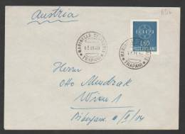 REPUBBLICA 1959 Europa Cept £.60 Mi. 1056ND Su Busta X L'Austria - 1946-.. République