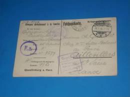 Carte Correspondance Courrier Prisonnier De Guerre WW1 Voir Tampons (aigle) - Documents