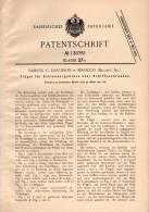 Original Patentschrift - S. Davidson In Sirocco , Belfast , Irland , 1901 , Flügel Für Schiffschraube , Schiff !!! - Schiffe