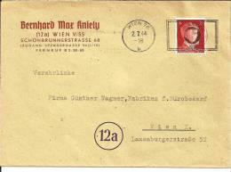 III-OM055 / Firmencouvert Mit Maschenenstempel- Werbung Fuer Unfallschutz, Wien 1944 - Deutschland