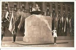 OY161 /Fotokarte Von Der Entzuendung Des Olympischen Feuers, Gelaufen Mit Machinenstempel-Werbung - Summer 1936: Berlin