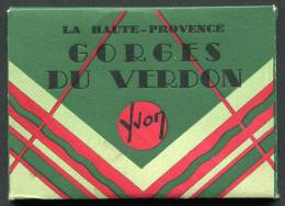 * GORGES DU VERDON - Pochette De 10 Vues Mignonnettes Noir Et Blanc, Format 9 X6,6cm (voir Autres Scans) - France