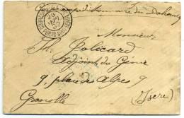 """BENIN - CORPS EXPEDITIONNAIRE DU DAHOMEY, AVEC CAD. """" CORRESPce MILITAIRE / PORTO-NOVO-BENIN LE 28/9/1892 """" SUP & RARE - Benin (1892-1894)"""